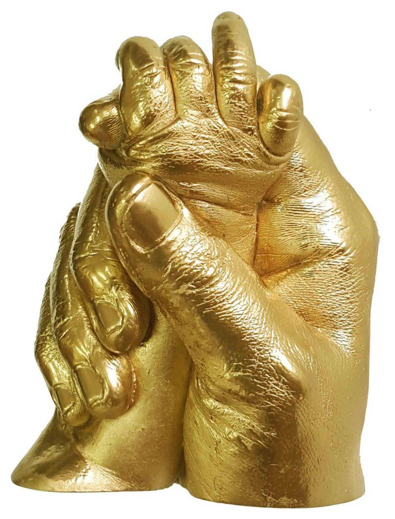 Parent & Child hands statue cast